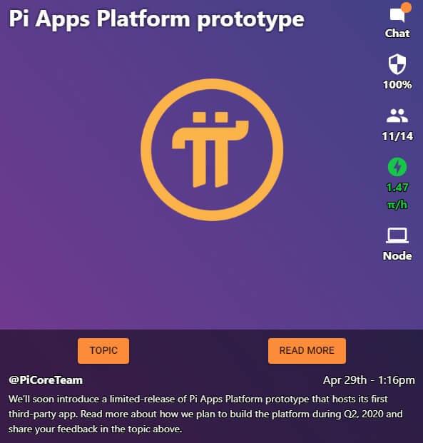 Nguyên mẫu đầu tiên nền tảng ứng dụng Pi 1